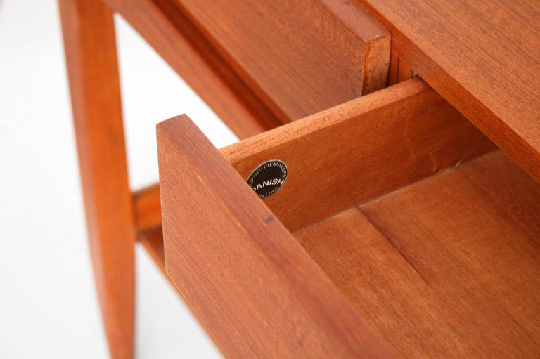 Teak Console Table by IB Kofod Larsen In Excellent Condition For Sale In Chicago, IL