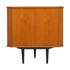 Teak Corner Cabinet Danish Design Retro, 1970s