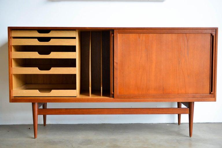 Scandinavian Modern Teak Credenza by Cabinetmaker Erik Worts, Denmark, 1959 For Sale