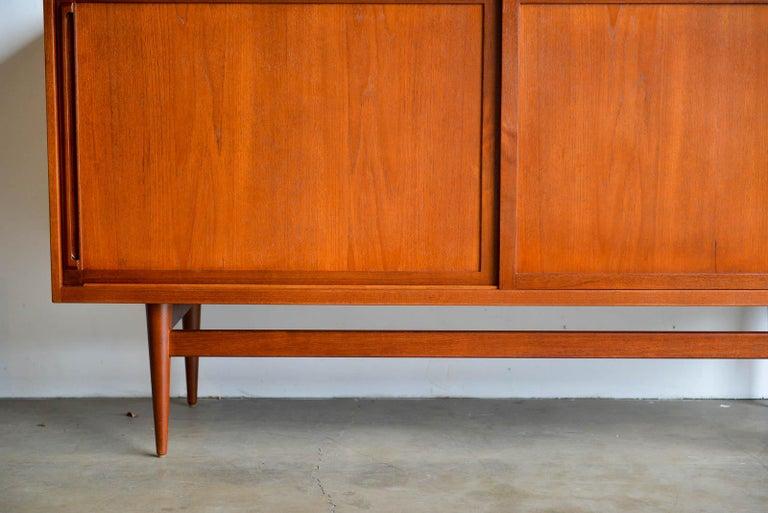 Teak Credenza by Cabinetmaker Erik Worts, Denmark, 1959 In Excellent Condition For Sale In Costa Mesa, CA