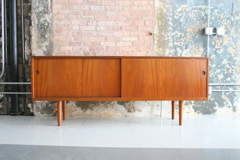 Teak Credenza by Hans Wegner for Ry Mobler Denmark In Good Condition For Sale In Chicago, IL