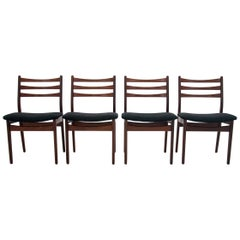 Teak Danish Chairs with Ladder Back