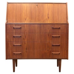 Teak Danish Mid Century Vanity / Secretary Desk by Gunnar Nielsen for Tibergaard