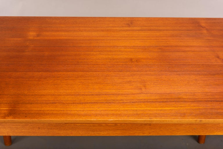 Teak Danish Mid-Century Modern Extendable Dining Table, 1960s For Sale 7