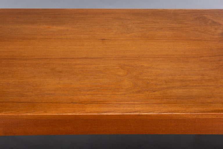 Teak Danish Mid-Century Modern Extendable Dining Table, 1960s For Sale 7