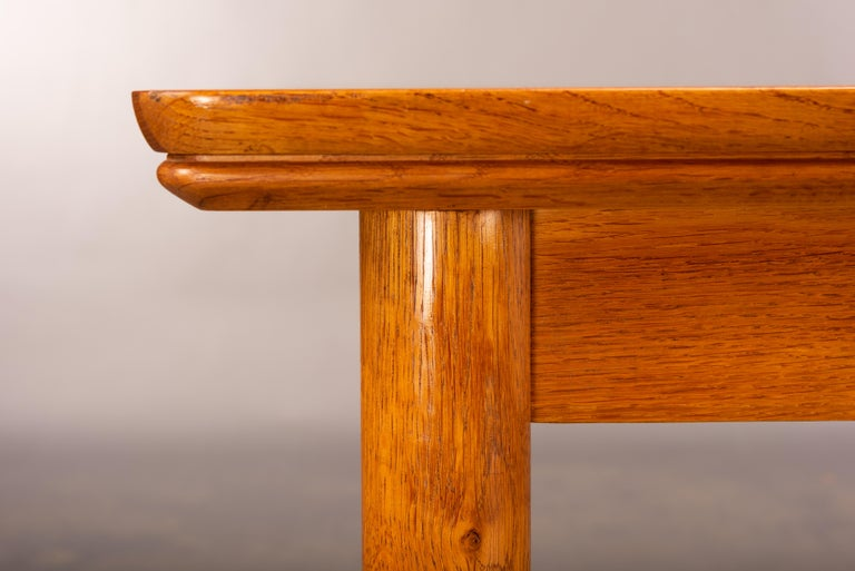 Teak Danish Mid-Century Modern Extendable Dining Table, 1960s For Sale 10