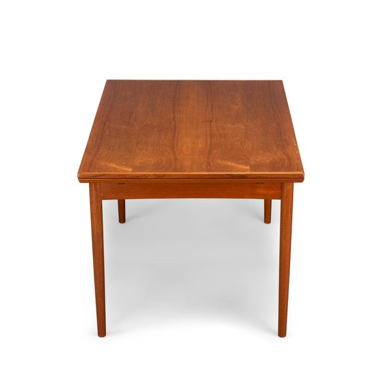 Veneer Teak Danish Mid-Century Modern Extendable Dining Table, 1960s For Sale