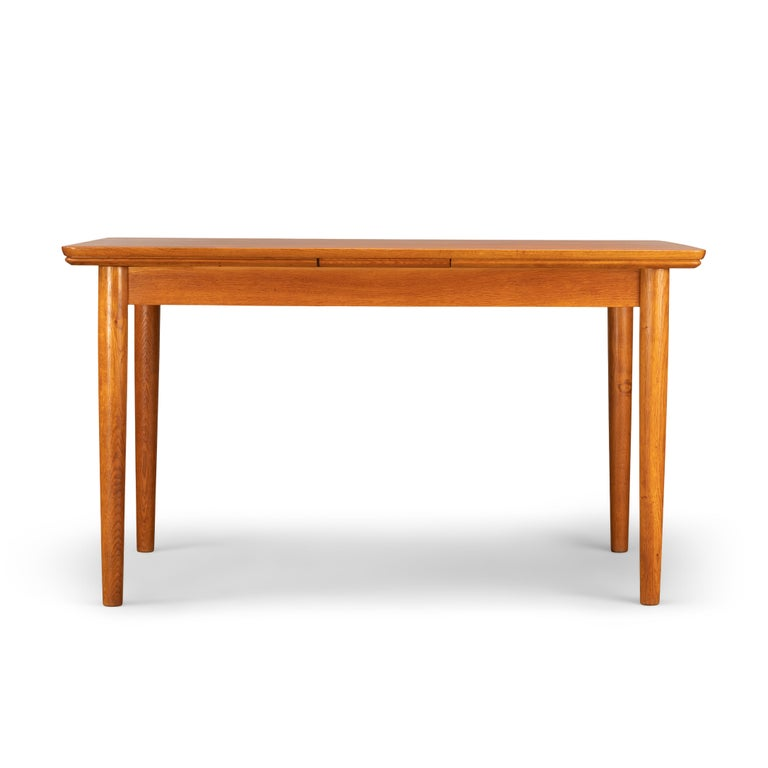 Mid-20th Century Teak Danish Mid-Century Modern Extendable Dining Table, 1960s For Sale