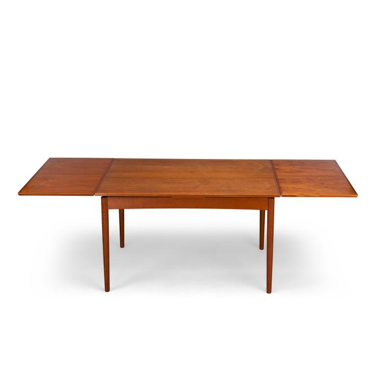 Mid-20th Century Teak Danish Mid-Century Modern Extendable Dining Table, 1960s For Sale