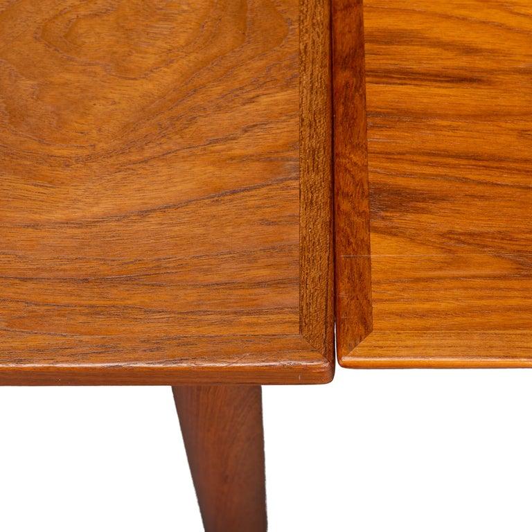 Teak Danish Mid-Century Modern Extendable Dining Table, 1960s For Sale 2