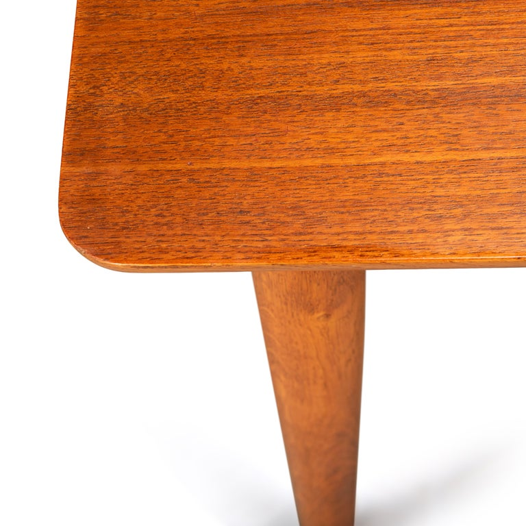 Teak Danish Mid-Century Modern Extendable Dining Table, 1960s For Sale 3
