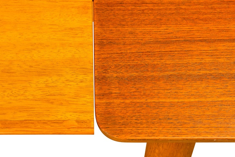 Teak Danish Mid-Century Modern Extendable Dining Table, 1960s For Sale 4