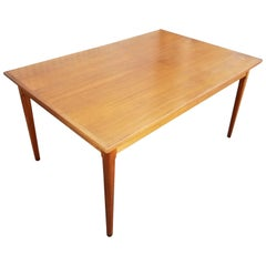 Teak Danish Modern Draw-Leaf Dining Table