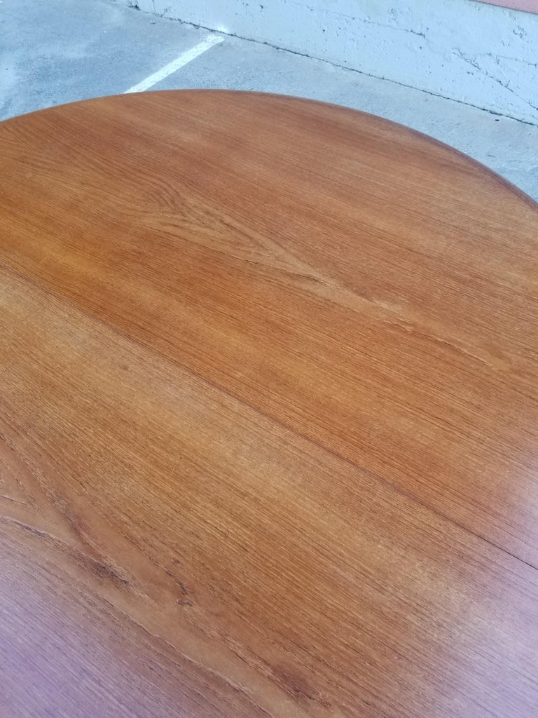 Teak Danish Modern Expanding Dining Table 5