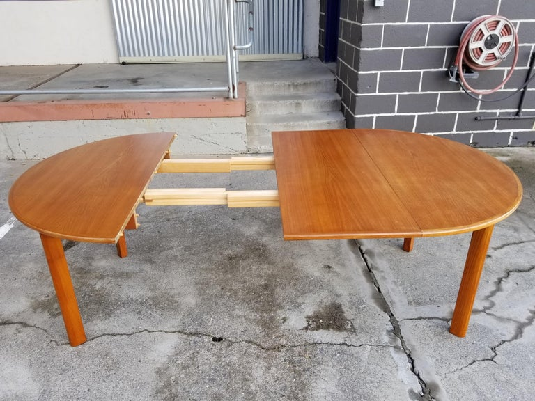 Teak Danish Modern Expanding Dining Table 2
