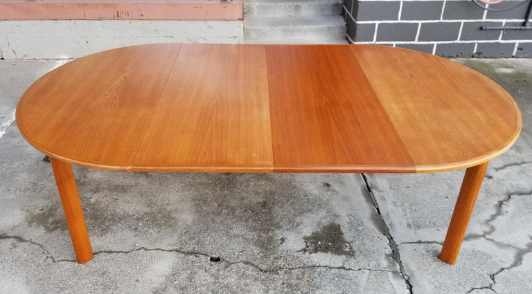 Teak Danish Modern Expanding Dining Table 3