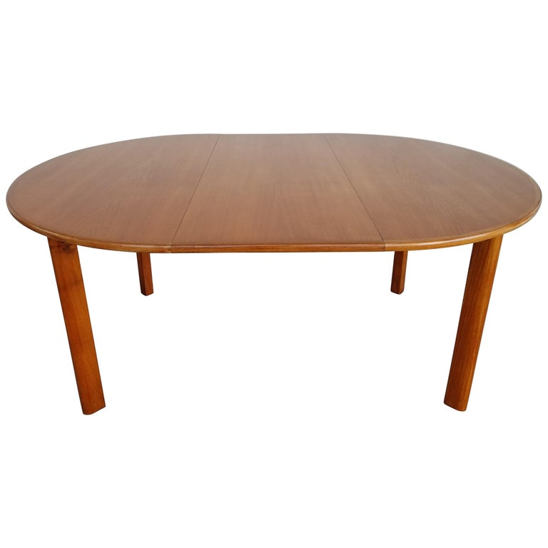 Teak Danish Modern Expanding Dining Table
