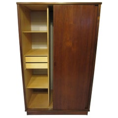 Teak Danish Wardrobe or Armoire in the style of Arne Vodder