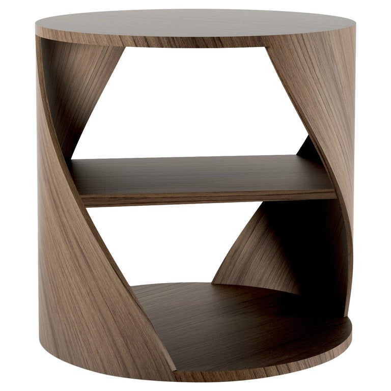 Teak Decorative Nightstand, MYDNA Side Table by Joel Escalona For Sale