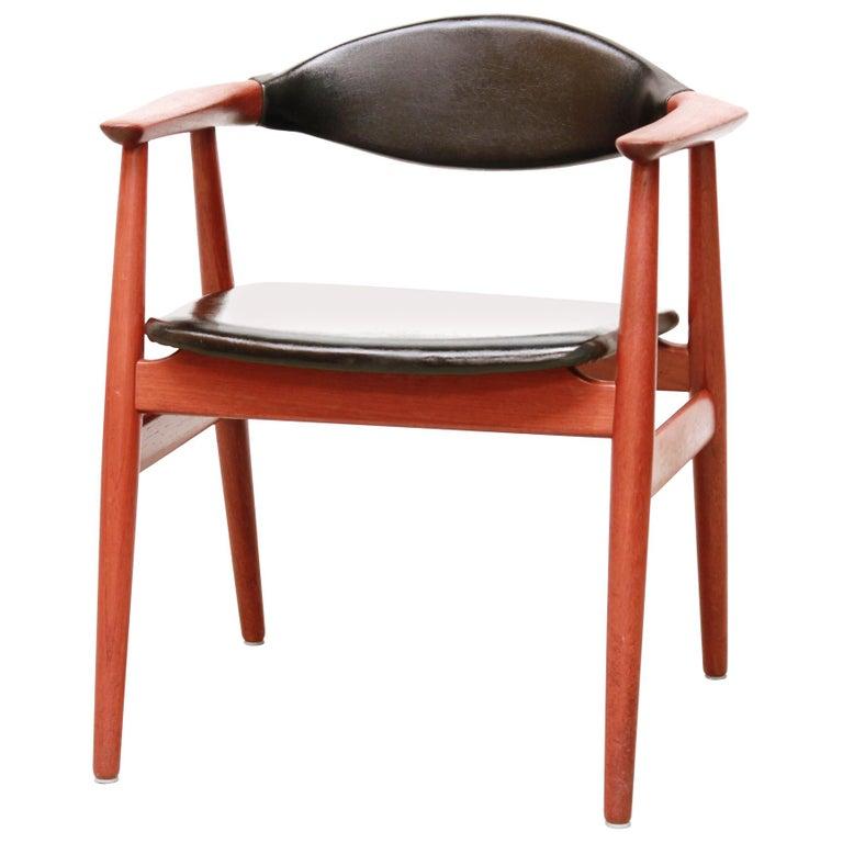 Teak Desk Armchair By Erik Kirkegaard For Glostrup