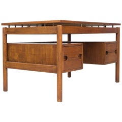 Teak Desk by Ilmari Tapiovaara, manufactured by Cantú, 1960