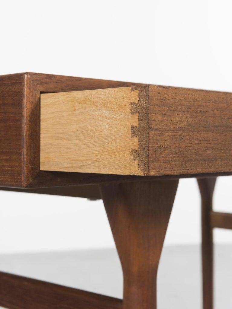 Danish Teak Desk by Nanna Ditzel, 1958 For Sale