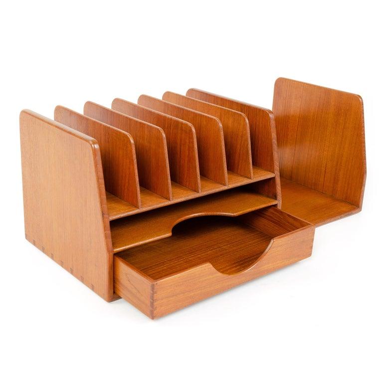 Scandinavian Modern 1950s Danish Teak Desk Organizer by Hans J. Wegner for Johannes Hansen For Sale