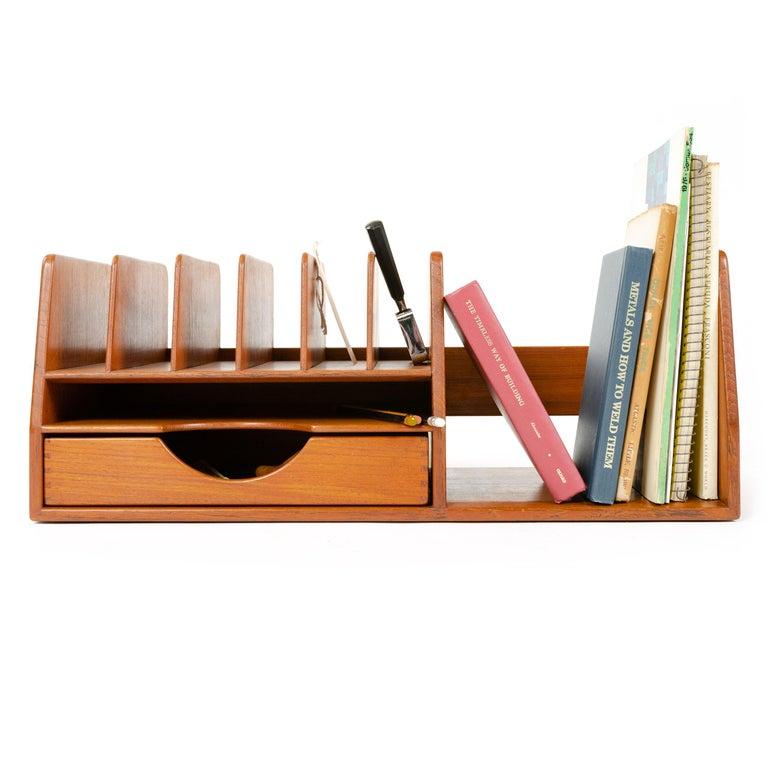 1950s Danish Teak Desk Organizer by Hans J. Wegner for Johannes Hansen For Sale 1
