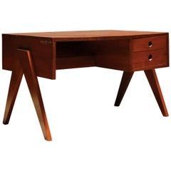 Teak Desk with Drawers by Pierre Jeanneret