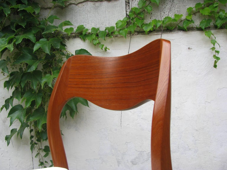 Scandinavian Modern Teak Dining Chair by Niels Otto Møller Model 71 For Sale