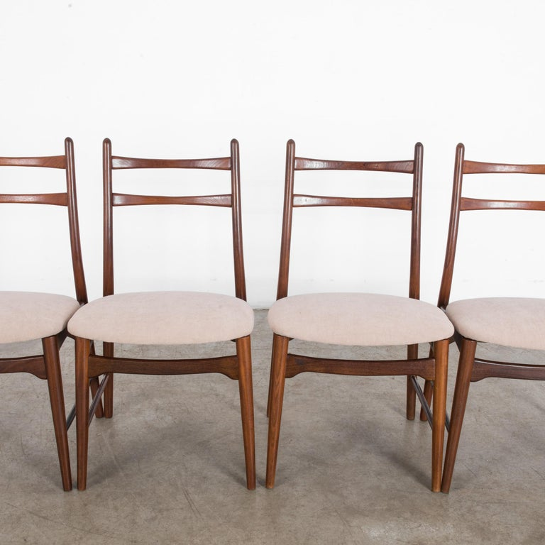 Teak Dining Chairs, Set of Four For Sale 4