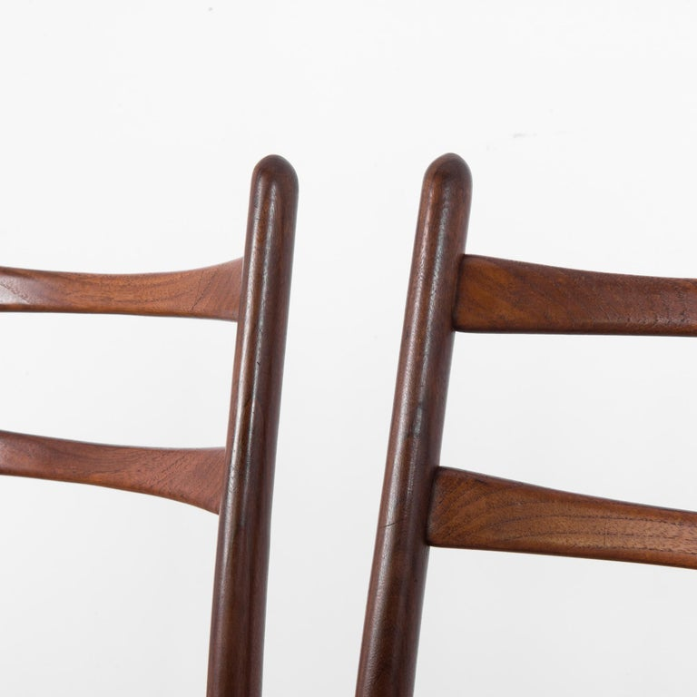 Teak Dining Chairs, Set of Four For Sale 7