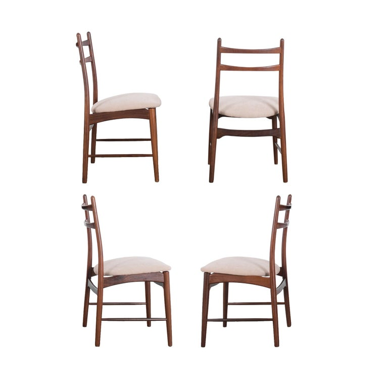 Mid-Century Modern Teak Dining Chairs, Set of Four For Sale