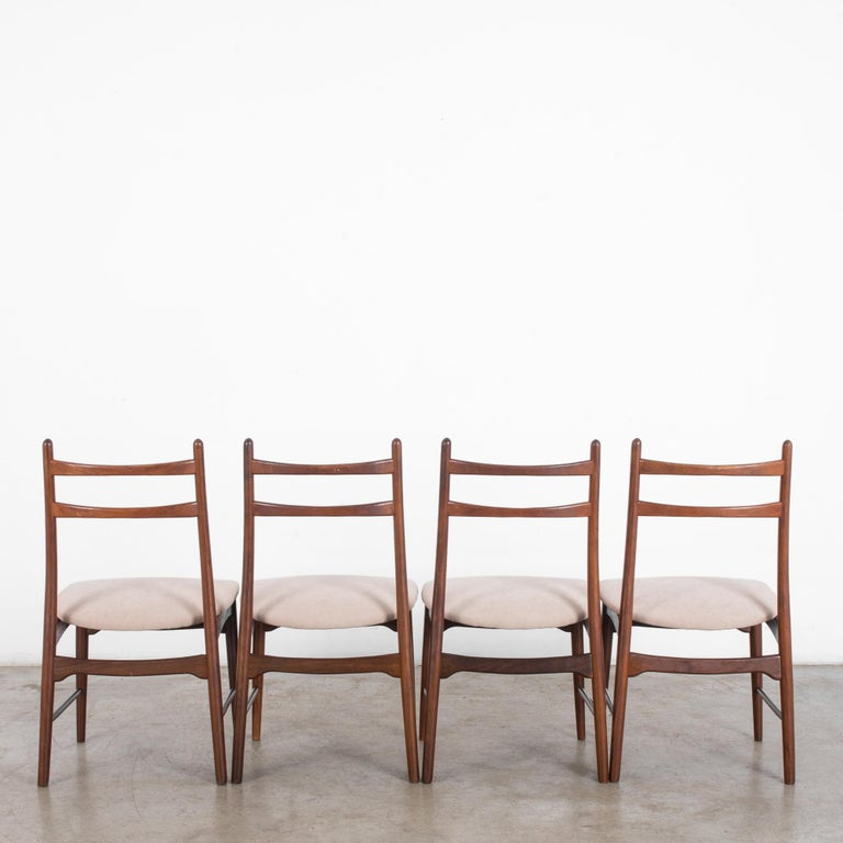 Late 20th Century Teak Dining Chairs, Set of Four For Sale