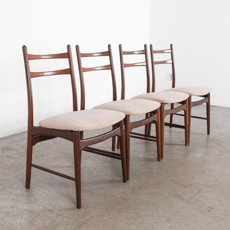 Teak Dining Chairs, Set of Four For Sale 1