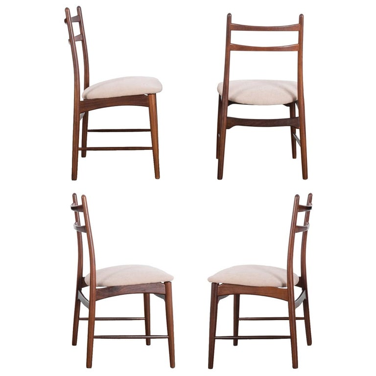 Teak Dining Chairs, Set of Four For Sale