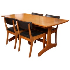 Teak Dining Table and 4 Chairs Vanson MCM