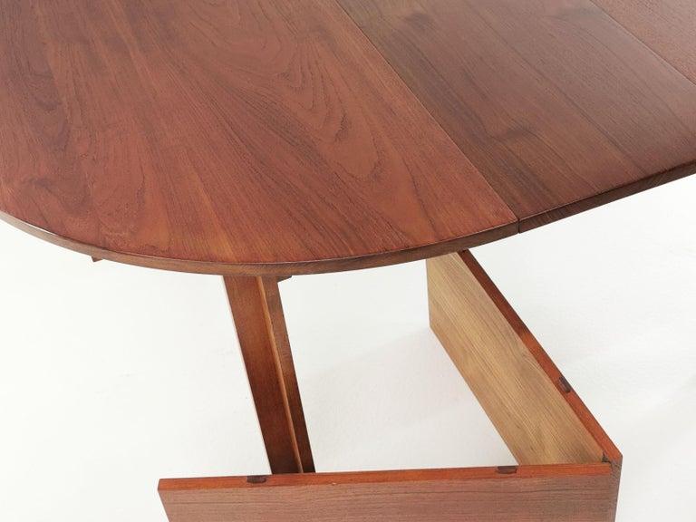 Mid-Century Modern Teak Dining Table by Inger Klingenberg for France & Son Midcentury, 1960s For Sale