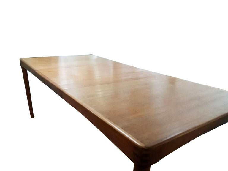 Danish Teak Dining Table by Klein For Sale