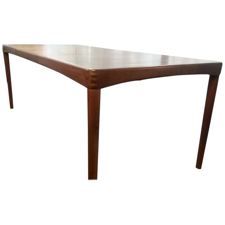 Teak Dining Table by Klein For Sale