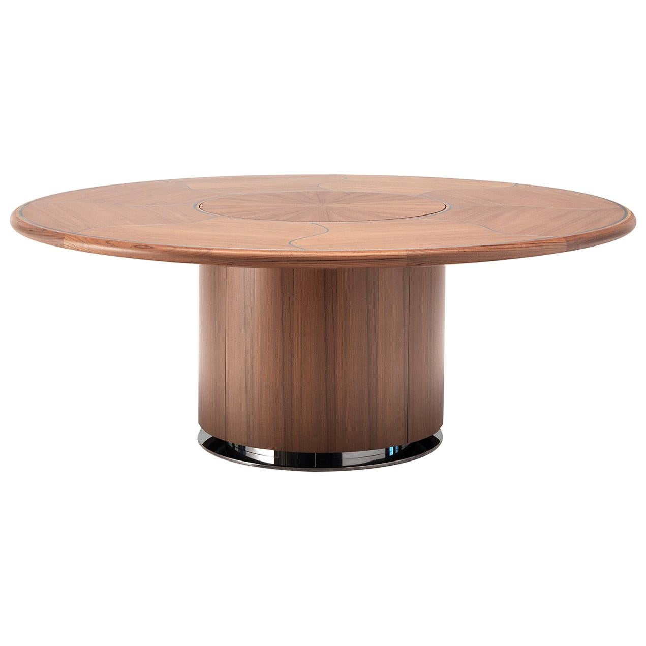 Teak Dining Table by Simone Ciarmoli and Miguel Queda