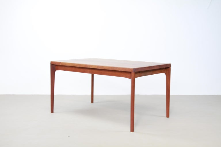 Danish Teak Dining Table with Extensions by Henning Kjærnulf for Vejle Møbelfabrik 1960 For Sale