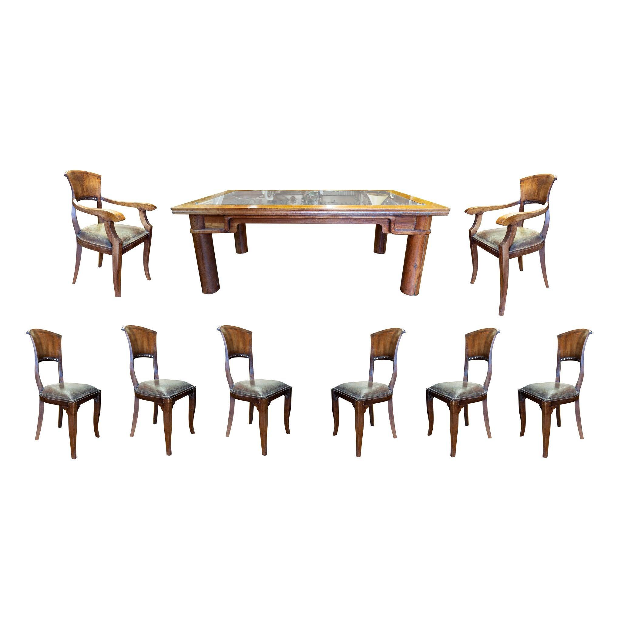 Teak Door Table and Chairs Set