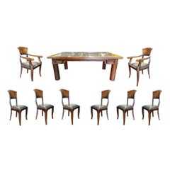 Teak Door Table and Chairs Set