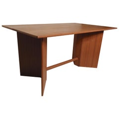 Teak Drop-Leaf Dining Table
