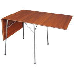 Teak Drop-Leaf Dining Table, Model 3601, by Arne Jacobsen for Fritz Hansen