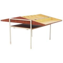 Teak Dutch Minimalist Coen de Vries Sewing Box Table for Tetex, 1950s
