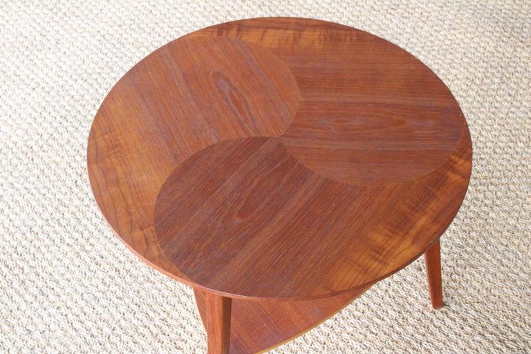 Mid-Century Modern Teak End Table, Denmark, 1950s For Sale