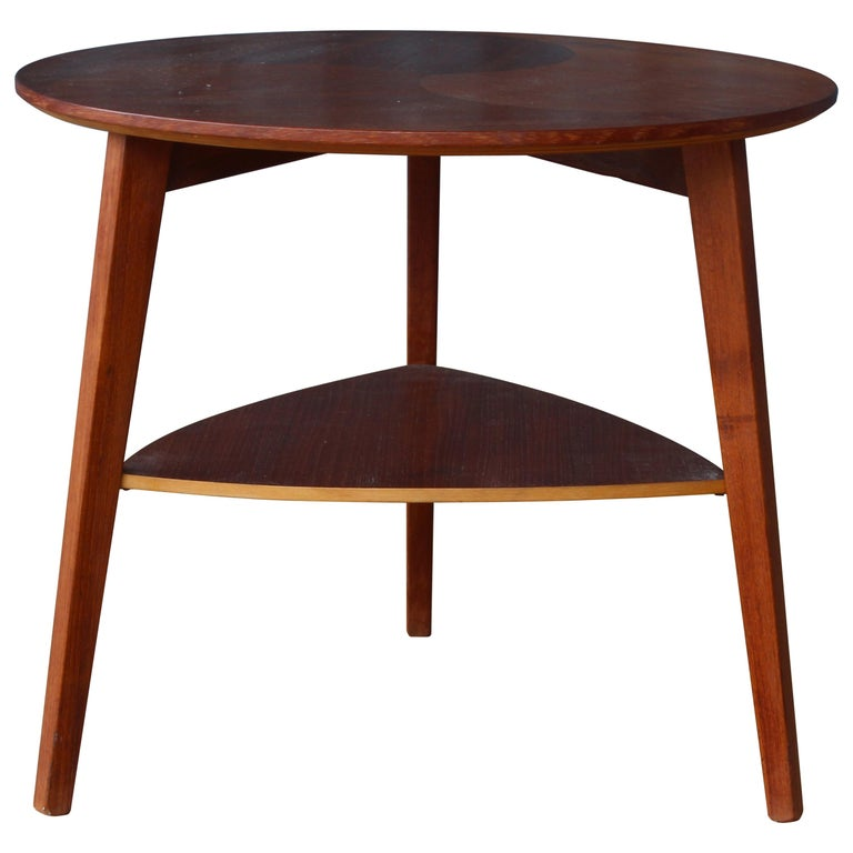 Teak End Table, Denmark, 1950s For Sale