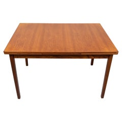 Teak Expandable Dining Table Dutch, 1960